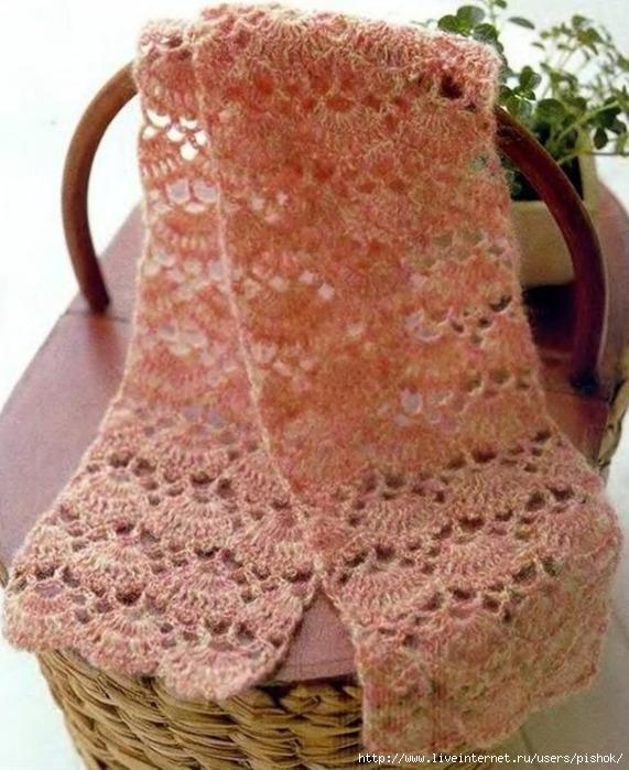 вязание шарфа спицами, схемы вязания шарфов, вязание крючком шарфы.
