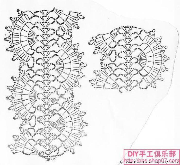 Вязание спицами крупный ажур схема