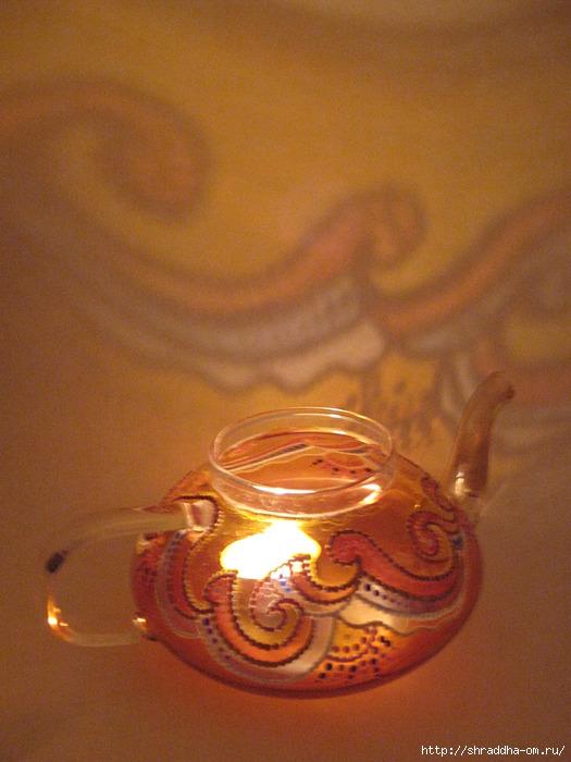 чайник-подсвечник, витражная роспись, автор Shraddha (9) (525x700, 252Kb)