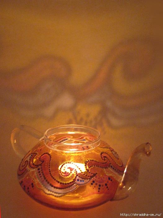 чайник-подсвечник, витражная роспись, автор Shraddha (11) (525x700, 255Kb)