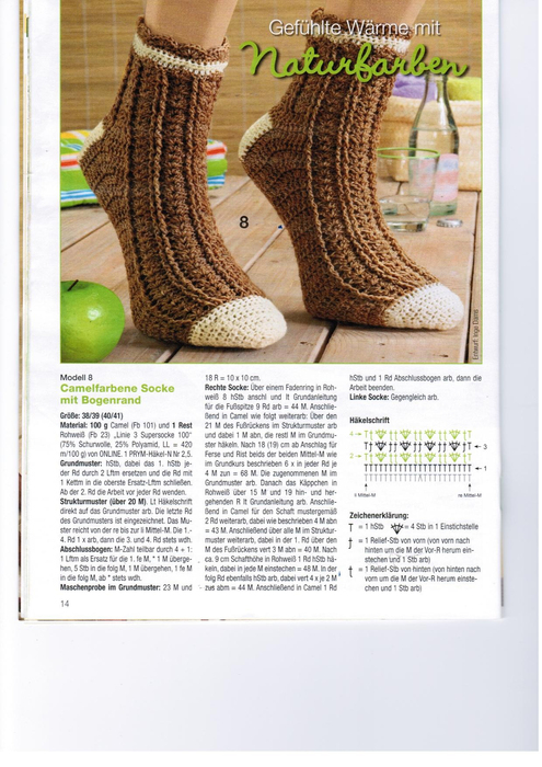 crocheted fashion socks: socks hook various design magazine