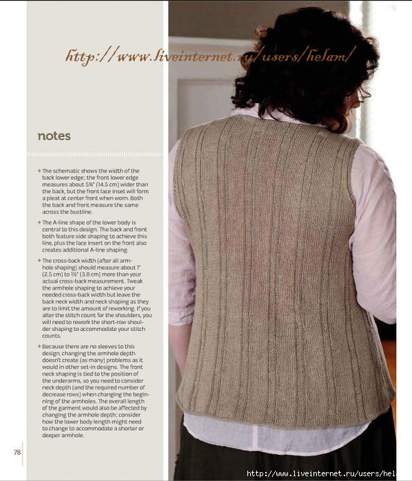 "Топ Cleveland Shell! .  Дизайнер - Lou Schiela, был опубликован в книге  ""Knitting Plus "". .  Новинка! ."