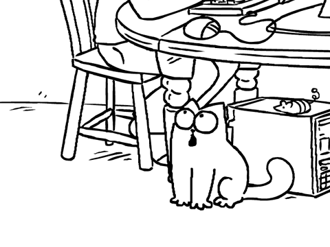 Simon's Cat и другие звери)). still from cat and mouse.