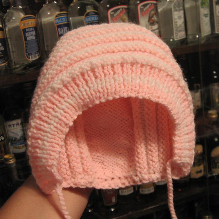 Вязание детских шапочек на новорожденного спицами