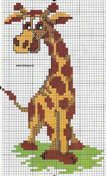 Схемы вышивок жирафа крестиком