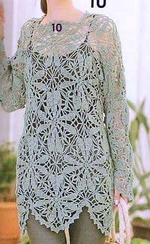blusao verde de flores, lindo (303x493, 54Kb)