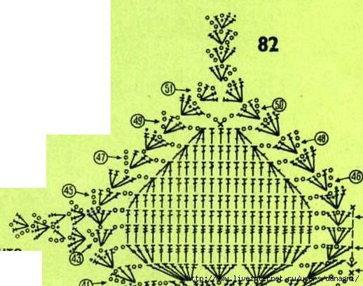 Далее посмотрите подборку схем для лифов вязаных крючком.