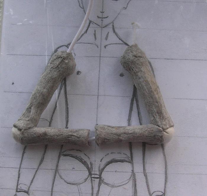 Шарнирная кукла своими руками из папье маше