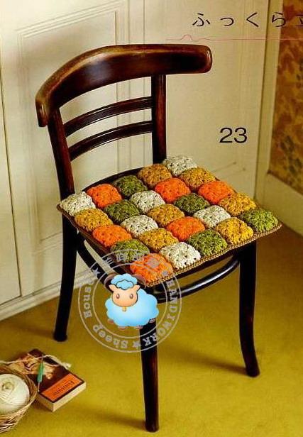 Круглая подушки на стулья