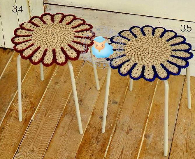 Как связать коврик на стул