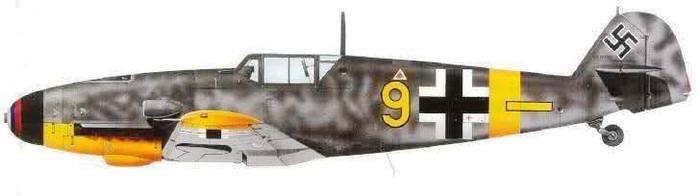 Bf109 G-4 de Jan Reznak. JG52, Kuban, Abril-Mayo de 1943. (700x196, 15Kb)