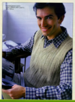 Вязание спицами.  Описание мужской модели со схемой и выкройкой.