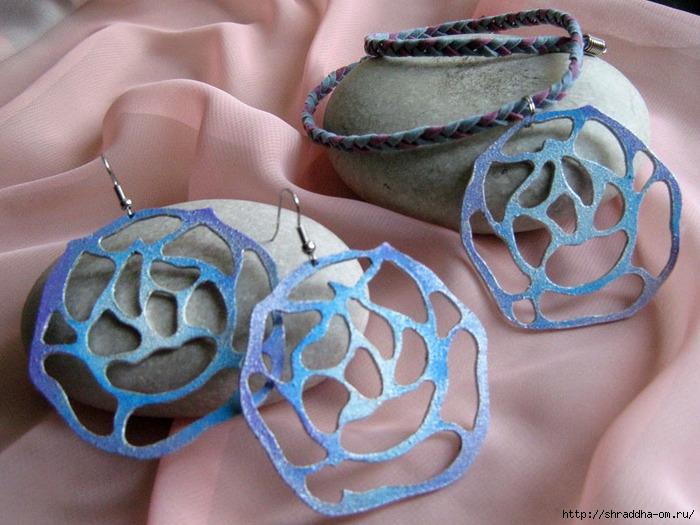 серьги и кулон Утренняя роза, ручная работа, автор Shraddha, 1 (700x525, 265Kb)