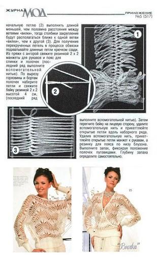 Вязание вилкой модели