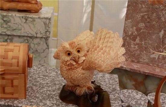 Необычные скульптуры из стружки от Сергея Бобкова