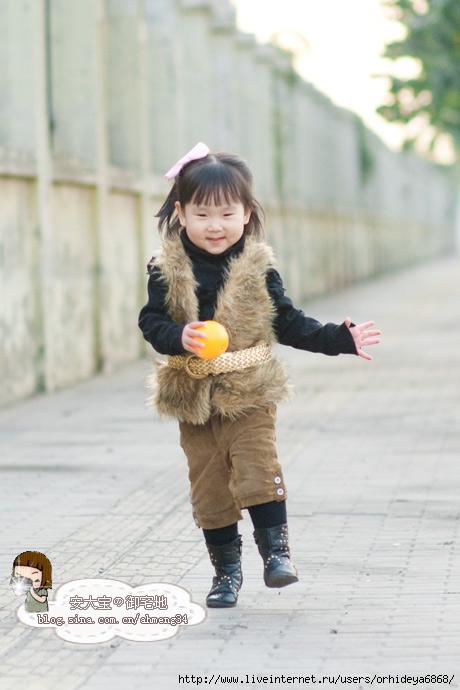 детские меховые жилетки фото