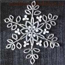 Снежинки из бисера своими руками для начинающих