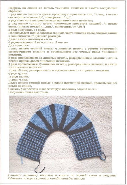 Самое простое вязание спицами следки по схеме
