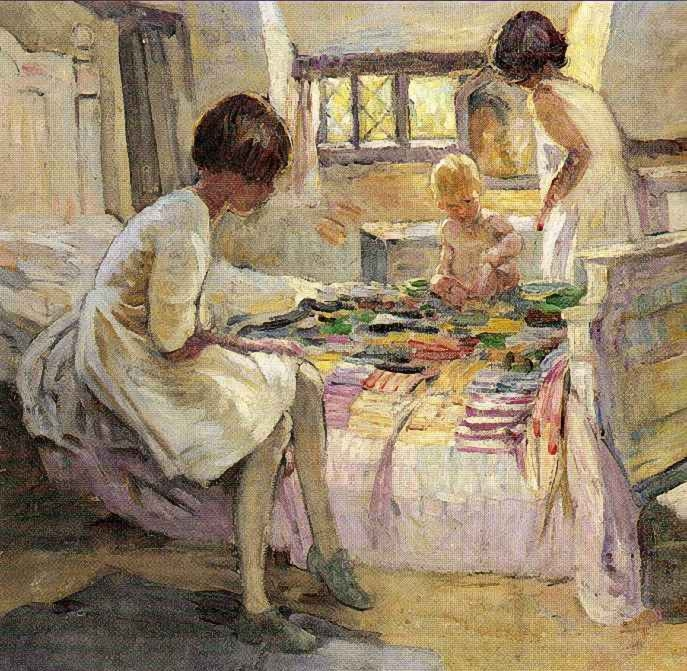 Dorothea Sharp - The Patchwork Quilt (687x671, 366Kb)