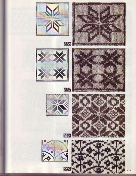 узоры,вязание орнаментов