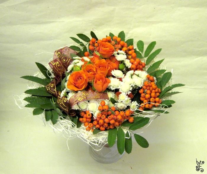 Букет из живых цветов своими руками 98