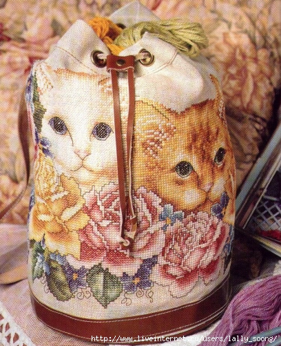 Garden Kitties Bag (408x501, 251Kb)