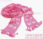 Ажурный шарф связанный крючком.
