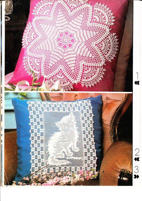 свой цитатник или сообщество! http://subscribe.ru.  Коты.Схемы для вышивки- монохром или филейного вязания.