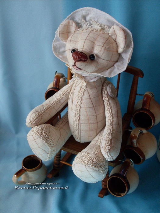 Авторский мишка Тедди. Хозяйка винного погреба. Елена Герасенко