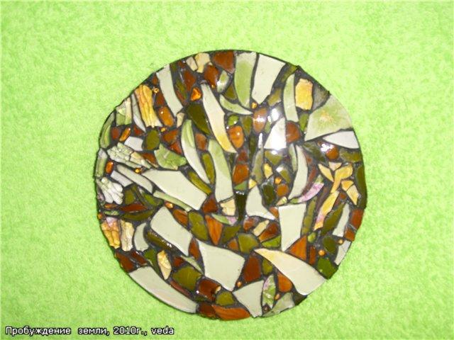 Поделки из битого стекла 52