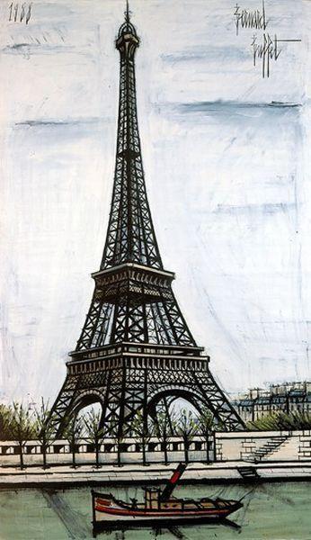 эйфелева башня рисунок: