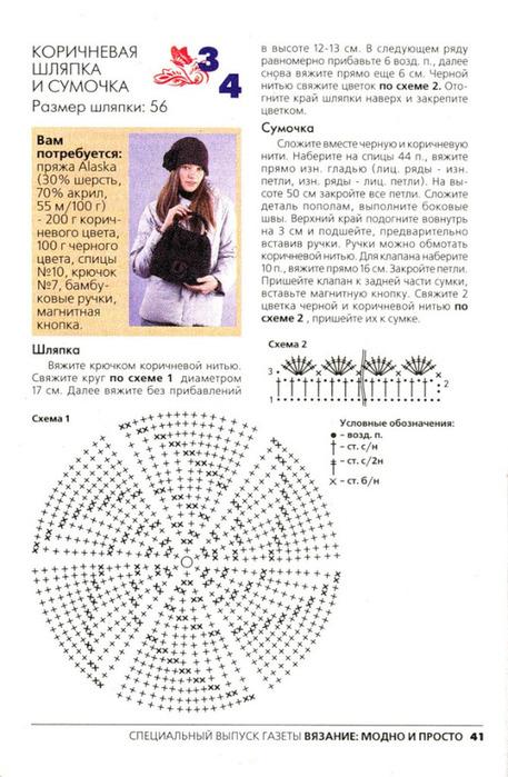 Схема вязания шапки без швов