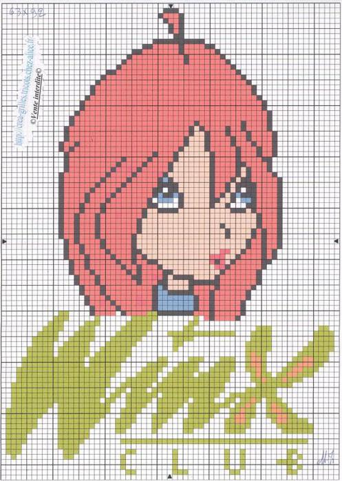 Winx - схемы для вышивки и