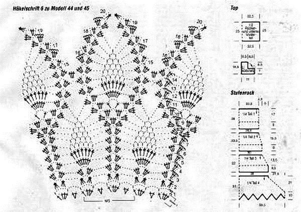 Схема узор ананас крючком - Вязание спицами и крючком, Вязание крючком. вязаные квадраты, игры вязать.