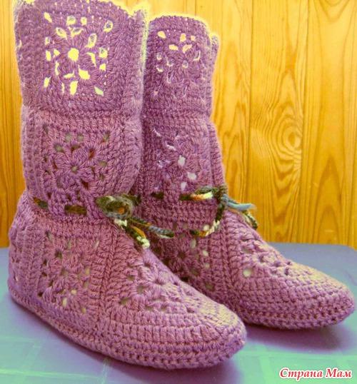 Сапоги, туфли Вязание спицами,