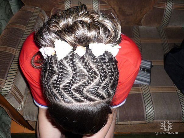 Фото сетка на из волос