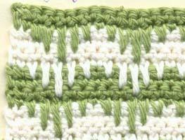 Вязание крючком из 2 цветов 27