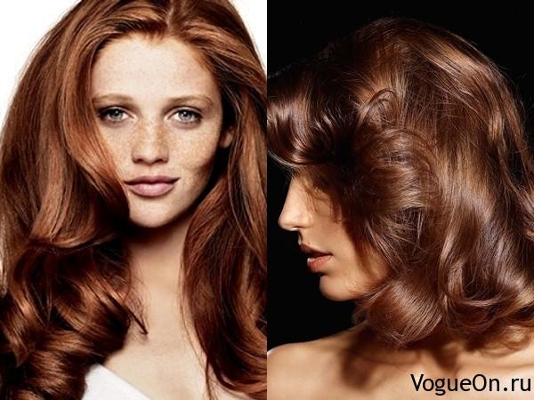 коричневый цвет волос фото:
