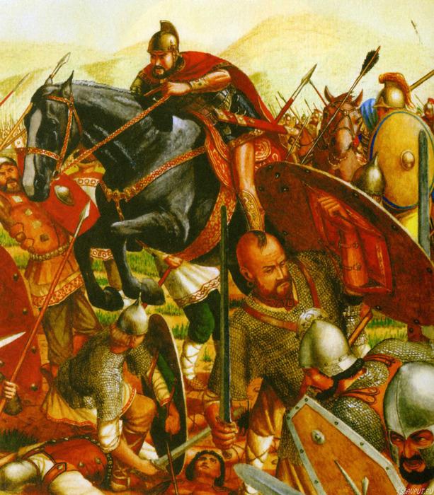 Битва русов с греками (613x700, 241Kb)