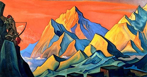 Весть Шамбалы. Стрела-письмо (1946 г.) (480x253, 42Kb)
