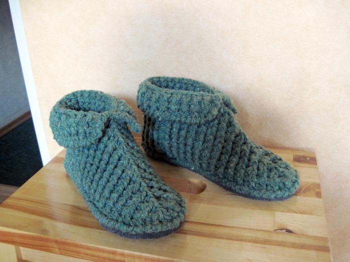 Детские тапочки ботиночки крючком с двойной подошвой, 0. Детские тапочки кр
