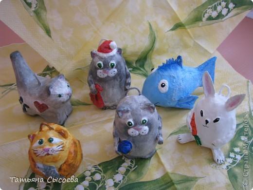 Елочные игрушки из папье-маше своими руками