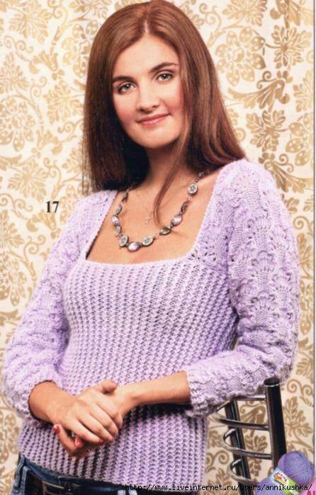 Вязаные свитера спицами со схемами 3
