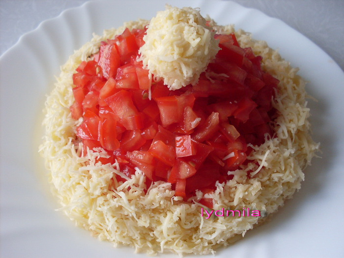 Как сделать красную шапочку салат