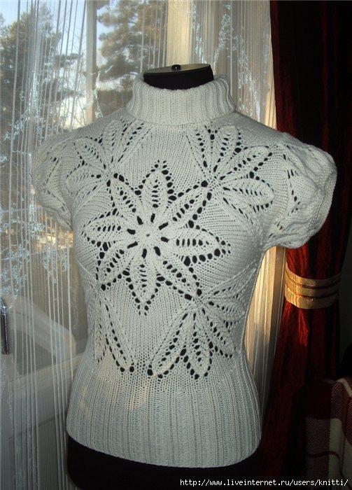 Вязание кофт на осинке спицами