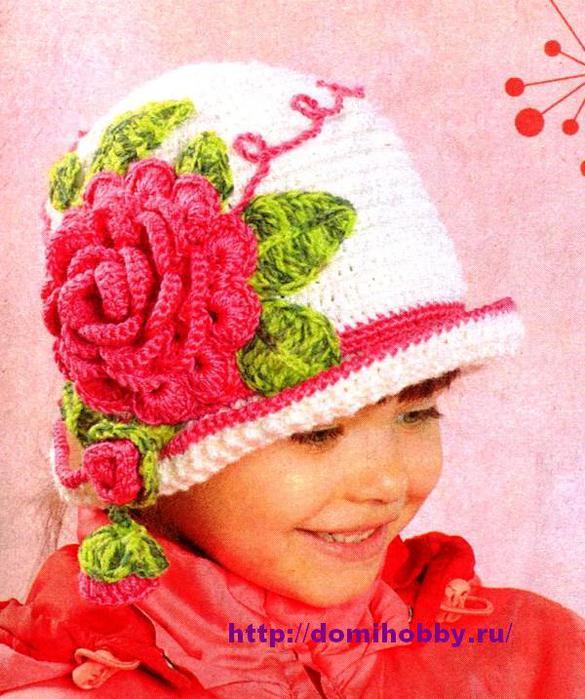 вязаная-шапочка-для-девочки (585x700, 76Kb)