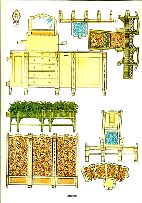 Как сделать домик из бумаги с мебелью своими руками