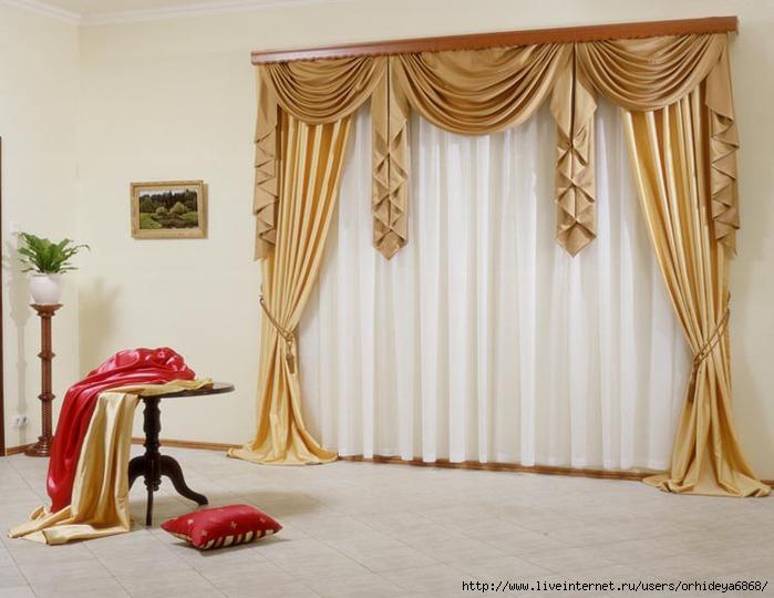 Ламбрекен - декоративная деталь из ткани, которая помогает гармонично оформить верх оконного или дверного проема...