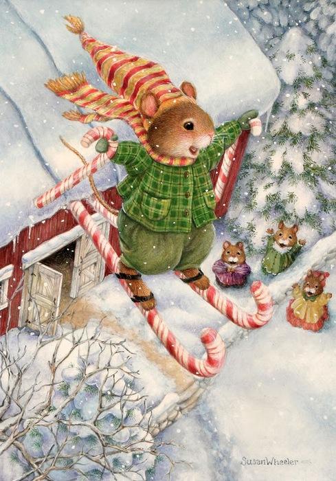 Oliver & Peppermint Skiis Susan Wheeler (489x700, 149Kb)