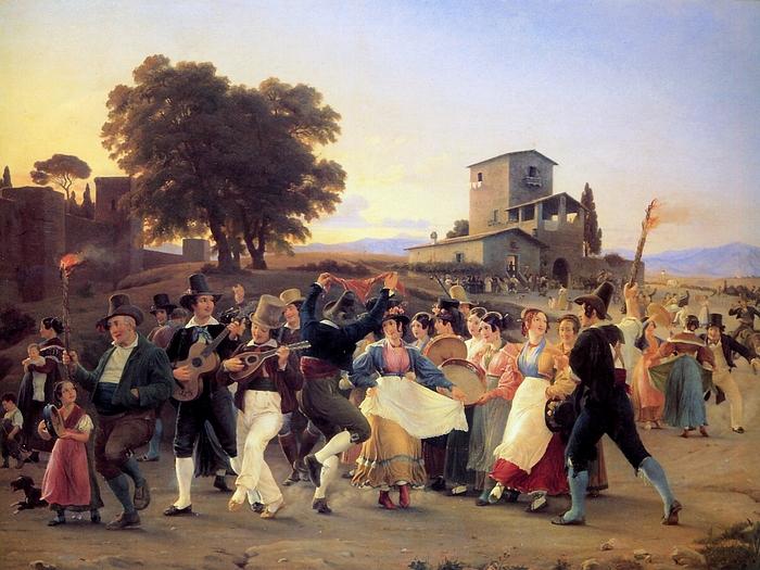 Marstrand-Wilhelm-October-Festival-evening-outside-Rome-Sun (700x525, 329Kb)
